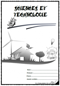 Pages de garde cahier sciences technologie