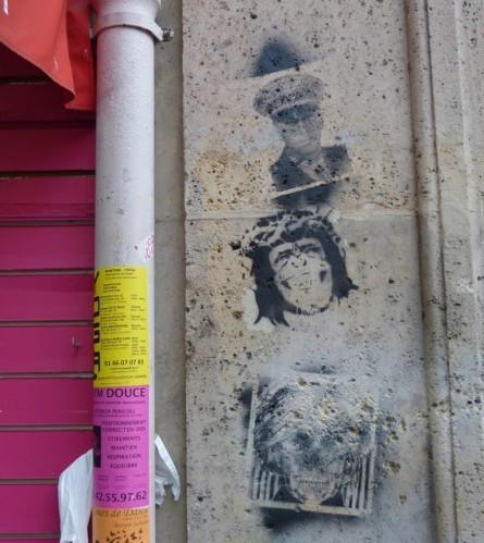 street-art pochoir Montmartre 3