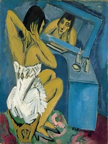 Ernst Ludwig Kirchner, La toilette - Femme au miroir