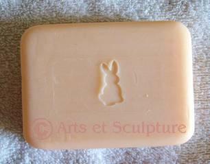 tampon a savon artisanal lapin - Arts et Sculpture:sculpteur sur bois