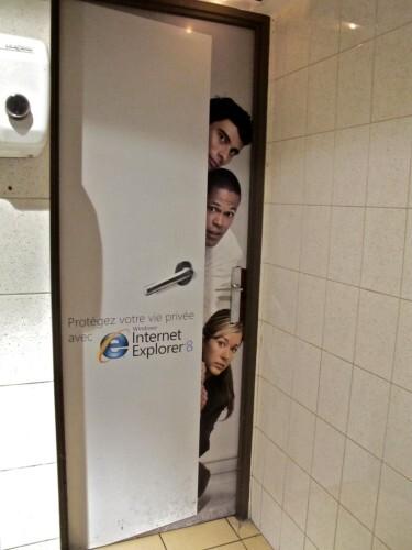 publicité affiche toilettes Windows
