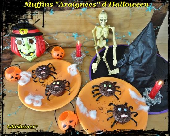 "Muffins ""Araignées"" d'Halloween"