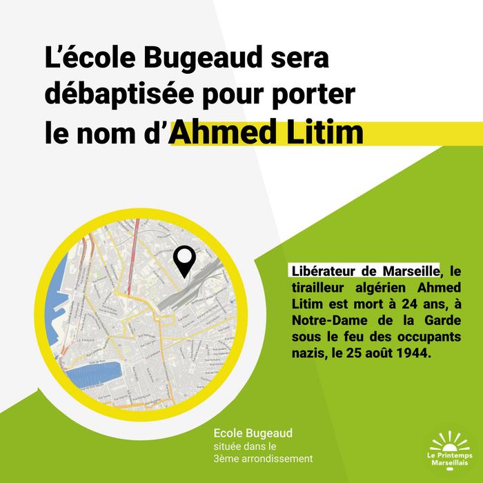 A Marseille, l'école Bugeaud bientôt rebaptisée du nom d'un tirailleur algérien