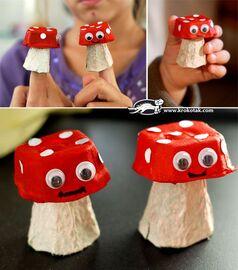 Cute mushroom craft.