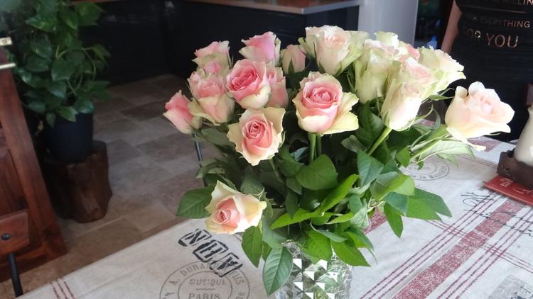 Nanie, et ses fleurs d'anniversaire