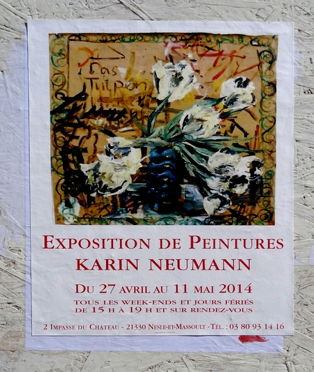 Karin Neumann a exposé à Nesle