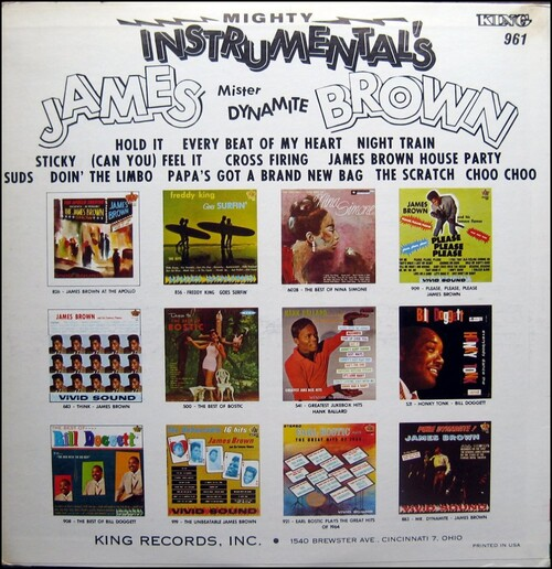 "1966 James Brown : Album "" Mighty Instrumentals "" King Records K 961 [ US ]"