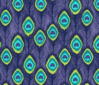 ikat peacock  feathers purple fabric by katarina on Spoonflower - custom fabric