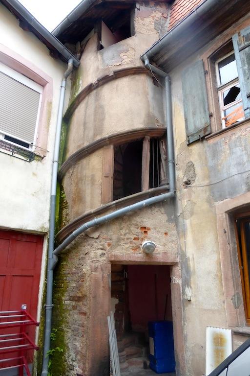Sélestat suite: l'architecture des maisons.