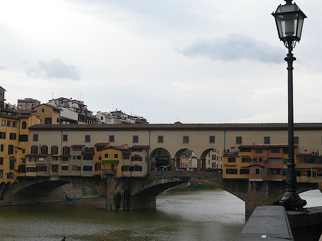 Un avant goût de l'Italie: Florence et le pont sur l'Arno.