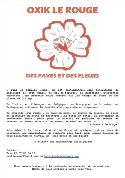 """CD """"DES PAVES ET DES FLEURS"""""""