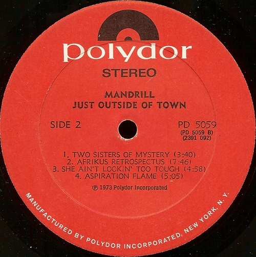 "1973 : Album "" Just Outside Of Town "" Polydor Records PD 5059 [ US ]"