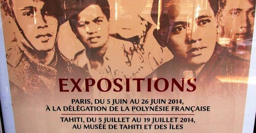 "5 Juin :  L' Exposition ""Tamari'i volontaires"" ( 5 - 26 juin) inaugurée à Paris"