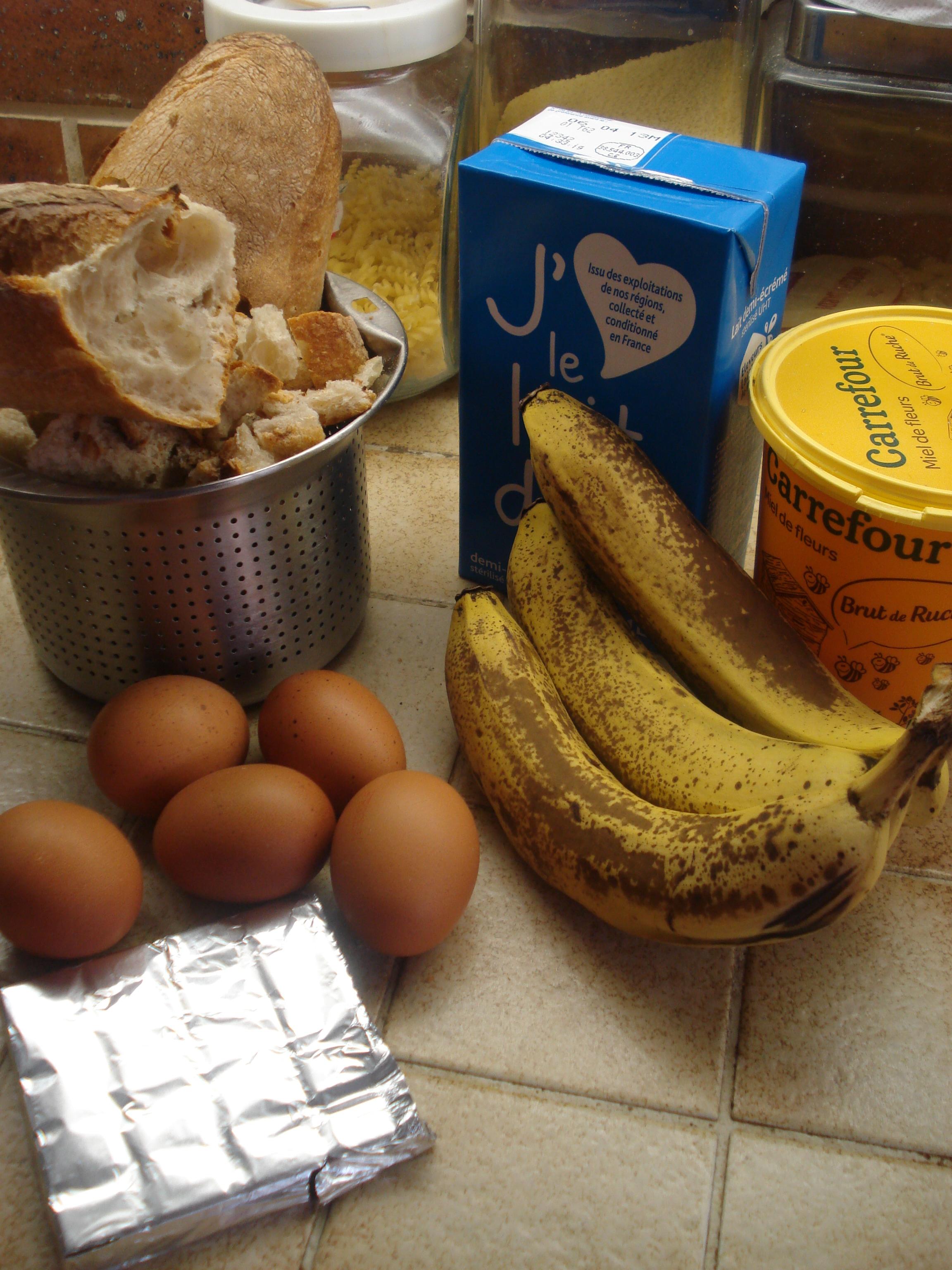 Gateau pain chocolat banane