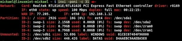Afficher les informations système avec INXI