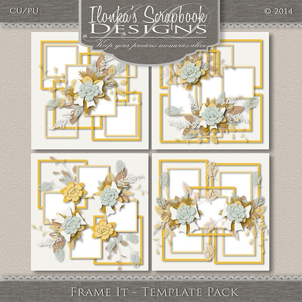 "Pack templates ""Frame It"" by Ilonka Scrapbook Designs"