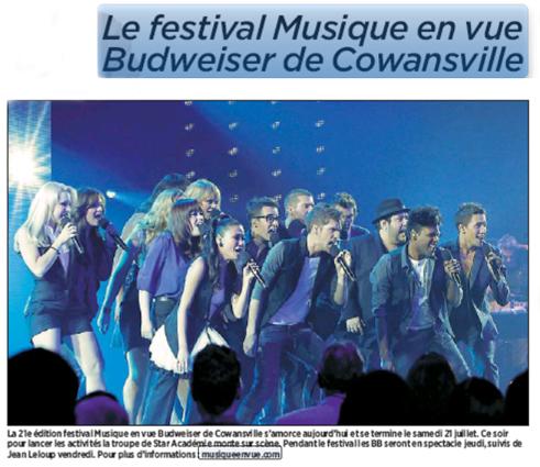 Festival Musique en vue de Cowansville