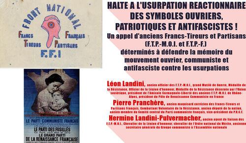 HALTE A L'USURPATION REACTIONNAIRE DES SYMBOLES OUVRIERS, PATRIOTIQUES ET ANTIFASCISTES ! ( IC.fr - 24/10/21 )