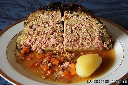 Recette de cuisine : Chou farci ( La cuisine d'Annie)