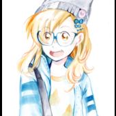 Watercolor, Megumi © caly 2017