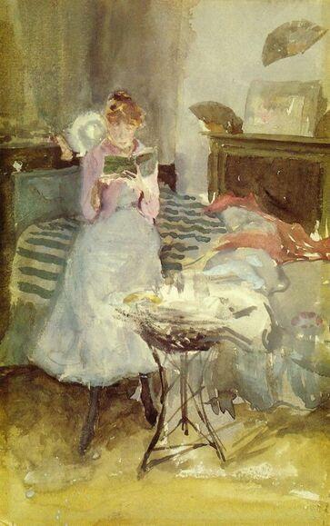 Femmes lisant-peintures 19eme