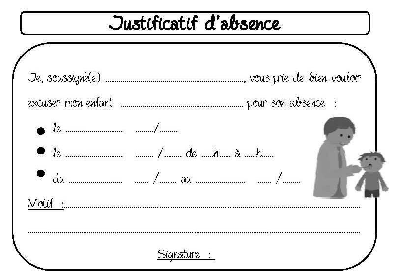 modele de lettre d absence pour l école Communication avec les parents   Dix mois modele de lettre d absence pour l école