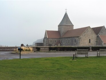 Varengeville - Eglise St-Valéry (XIe-XIIIe-XVIe-XIXe s.)  Cimetière marin