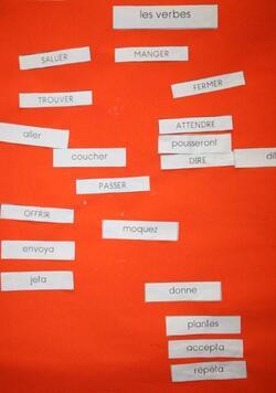 Quelle classe grammaticale? jeu avec des étiquettes