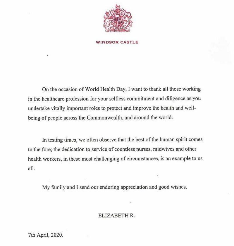 Messages de la reine Elizabeth