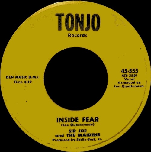 1963 : Sir Joe & The Maidens : Single SP Tonjo Records 45-555 [ US ]