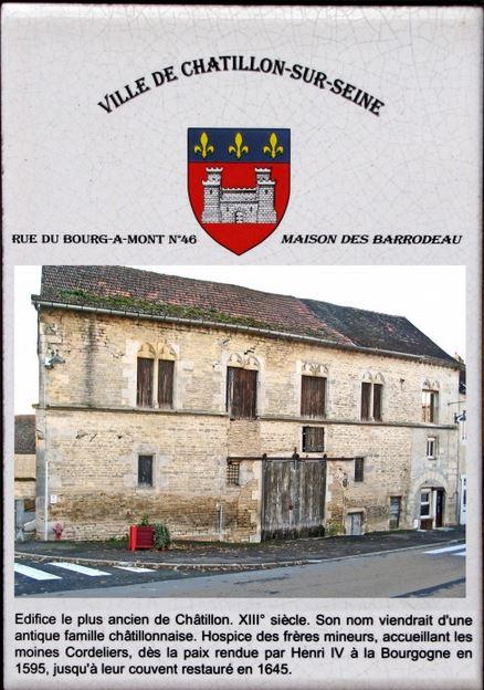 Le triste état d'une maison classée, à Châtillon sur Seine....