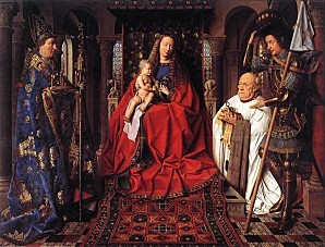Jan van Eyck - The Madonna with Canon van der Paele
