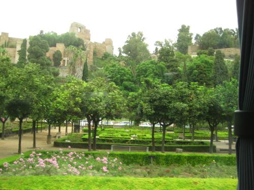 Les forteresses de l'Alcazaba à Malaga