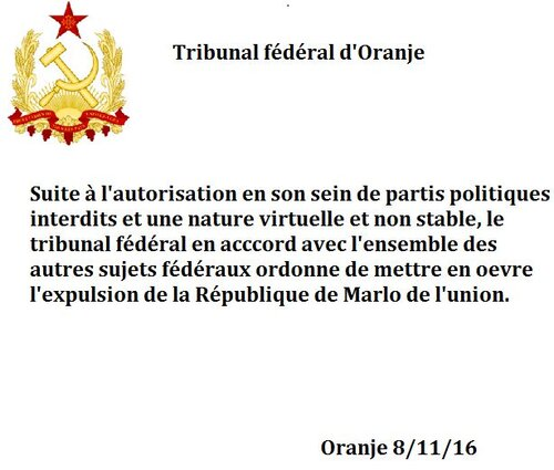 ARCHIVE - Expulsion de la République de Marlo