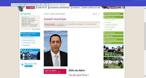 Sully a un nouveau maire. Si, si, il est sur Internet !