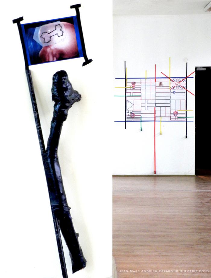 Mano a Mano Jean-Marc Andrie exposition art Pazardjik Bulgarie Mai 2015