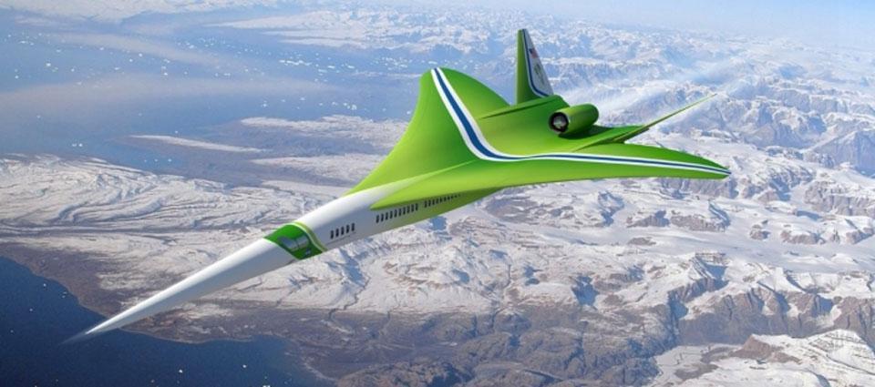 Un avion de ligne futuriste