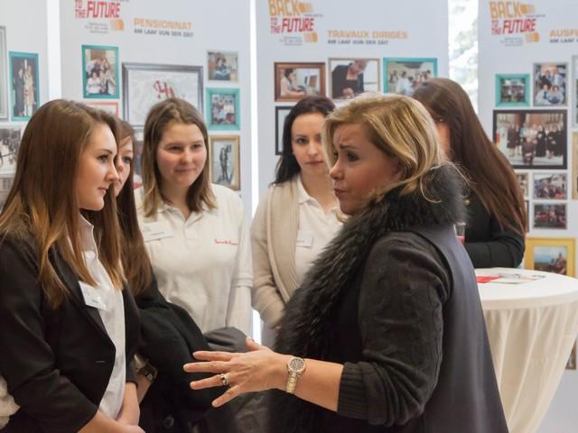 Table-ronde avec les élèves de l'école Sainte-Anne d'Ettelbrück