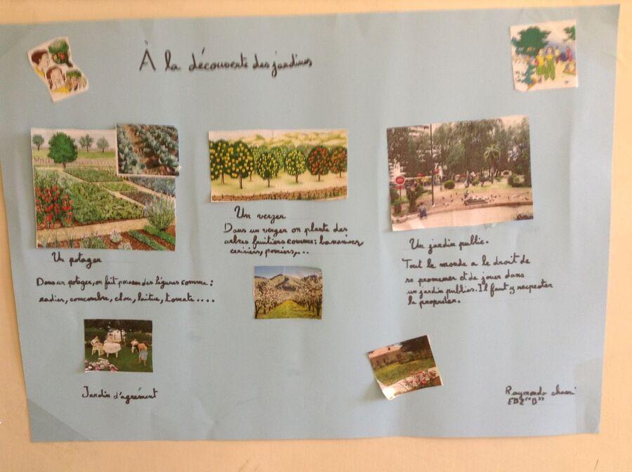 Les types de jardins représentés par les enfants d'EB2.