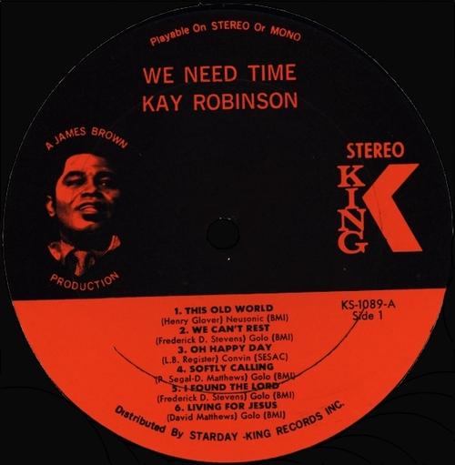 "Kay Robinson : Album "" We Need Time "" King Records KS-1089 [ US ]"