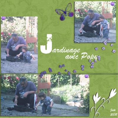 Blog de chipiron :Un chipiron dans les Landes, Popy jardine