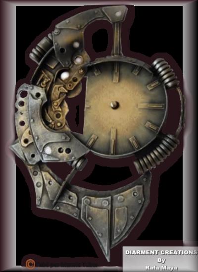 Tube Horloge Steapunk 2989