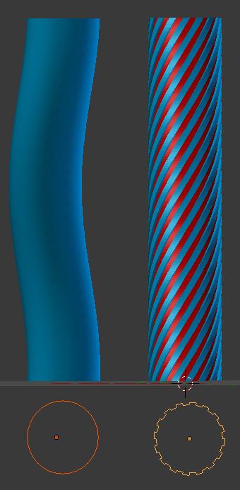 Exemple de colonne torsadée