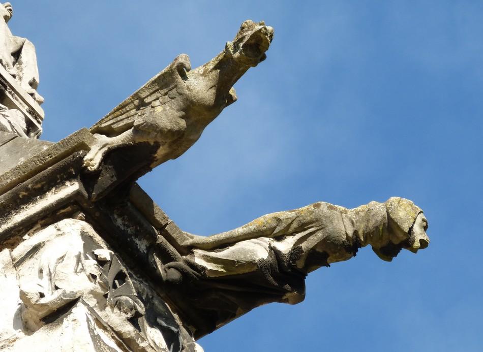 Les gargouilles et chimères de la Dame d'Amiens