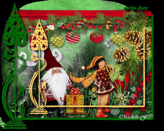 Cerise Déco cluster Noël