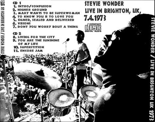 "Stevie Wonder : mp3 "" Live In Brighton July 04, 1973 "" Not Label [ UK ]"