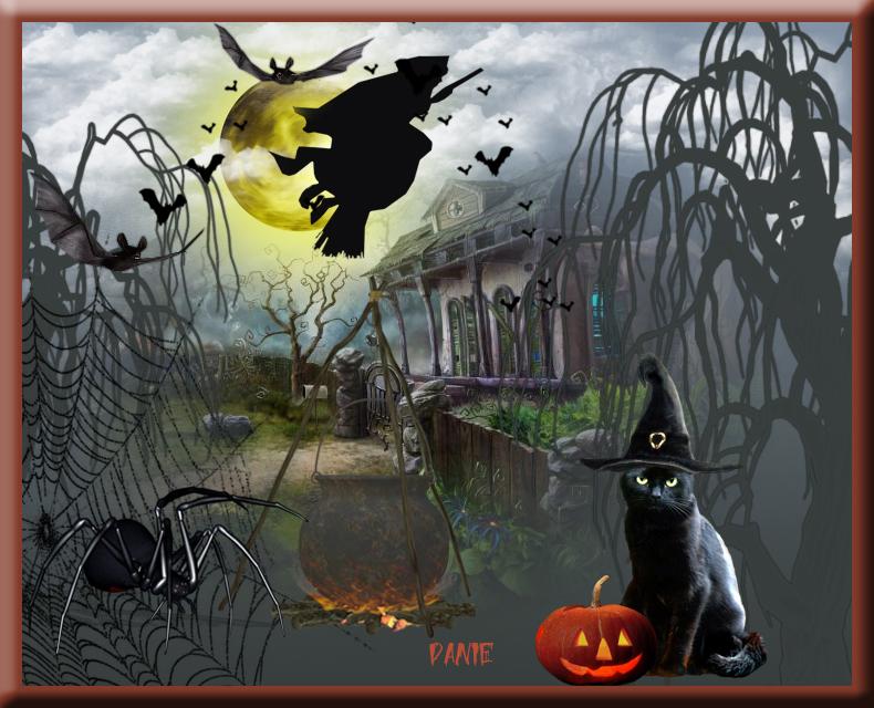 Joyeux Halloween..d'après un tuto de ELISE