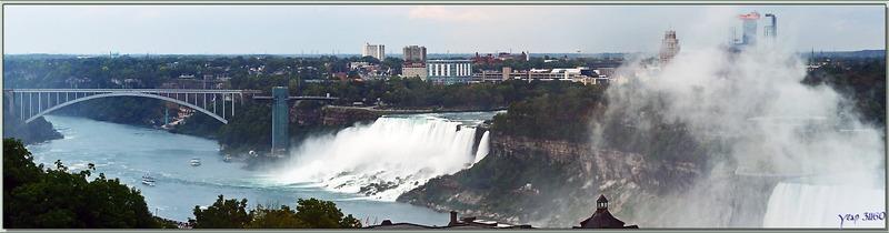 """Les chutes vues de """"Portage Road"""" - Niagara Falls - Ontario - Canada"""