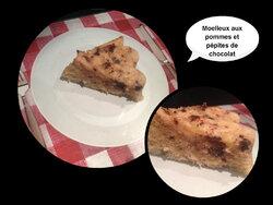 Moelleux aux pommes et pépites de chocolat version express !