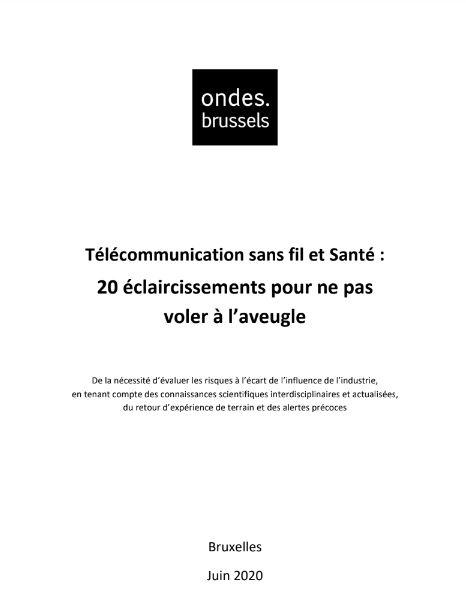 Rapport Onde.brussels >>>  5G : des Risques inconsidérés pour la Santé et l'Environnement